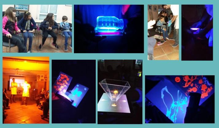 taller de ciencia y luz planes con niños Madrid Nano Madrid