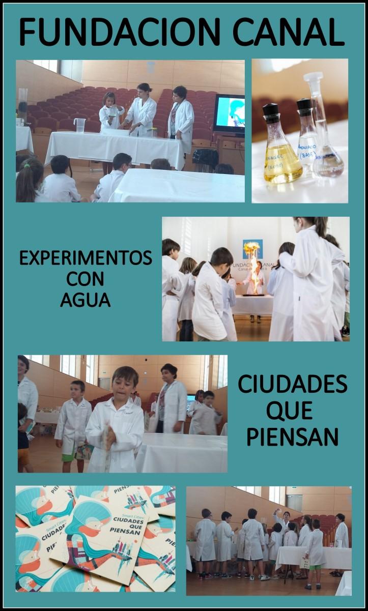 actividades para niños experimentos con agua Fundacion Canal Madrid