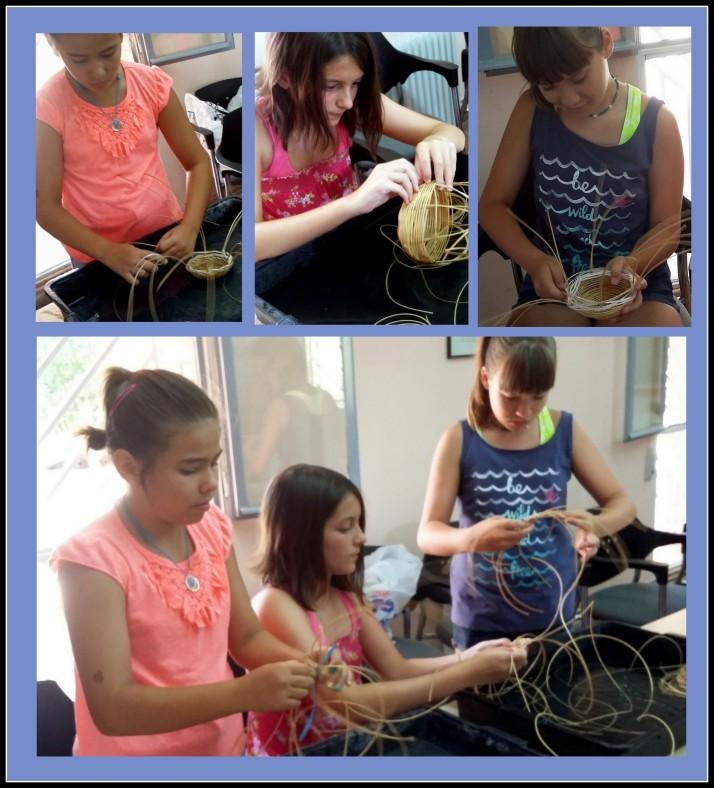 planes con niños hacer cestas con medula y caña Madrid