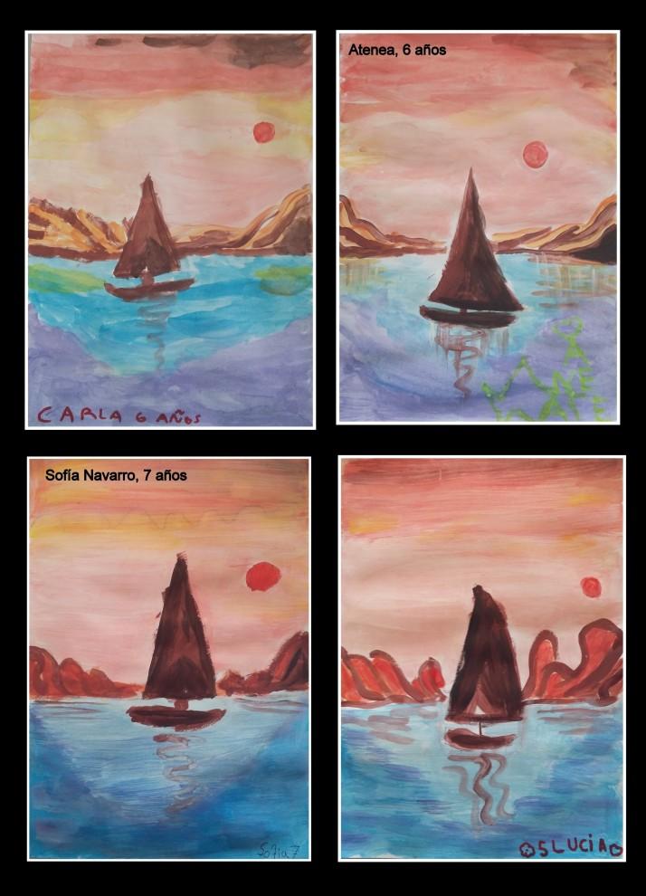 acuarela-barco-en-la-playa-arte-infantil
