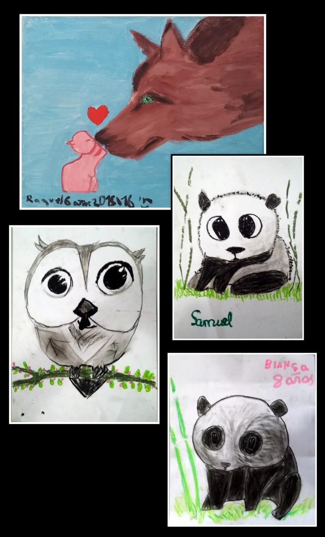 dibujos-de-animales-a-pastel-carboncillo-y-oleo-para-ninos
