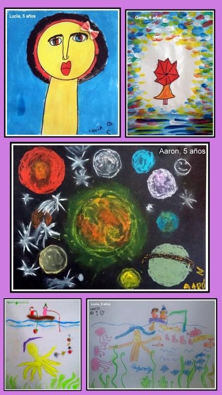 dibujos-de-planetas-y-fondo-del-mar-con-temperas-y-ceras-hechos-por-nic3b1os-arte-infantil-torrejon-de-ardoz