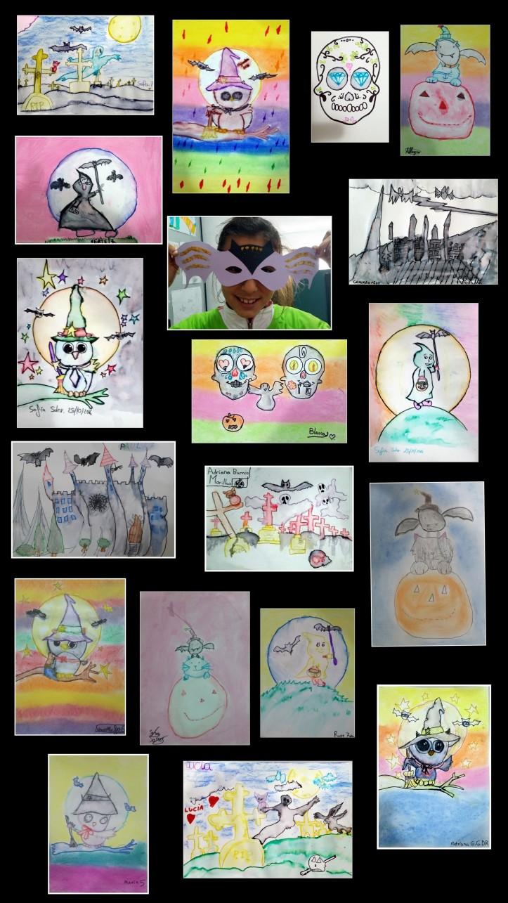 dibujos-originales-y-alegres-de-halloween-realizados-por-ninos