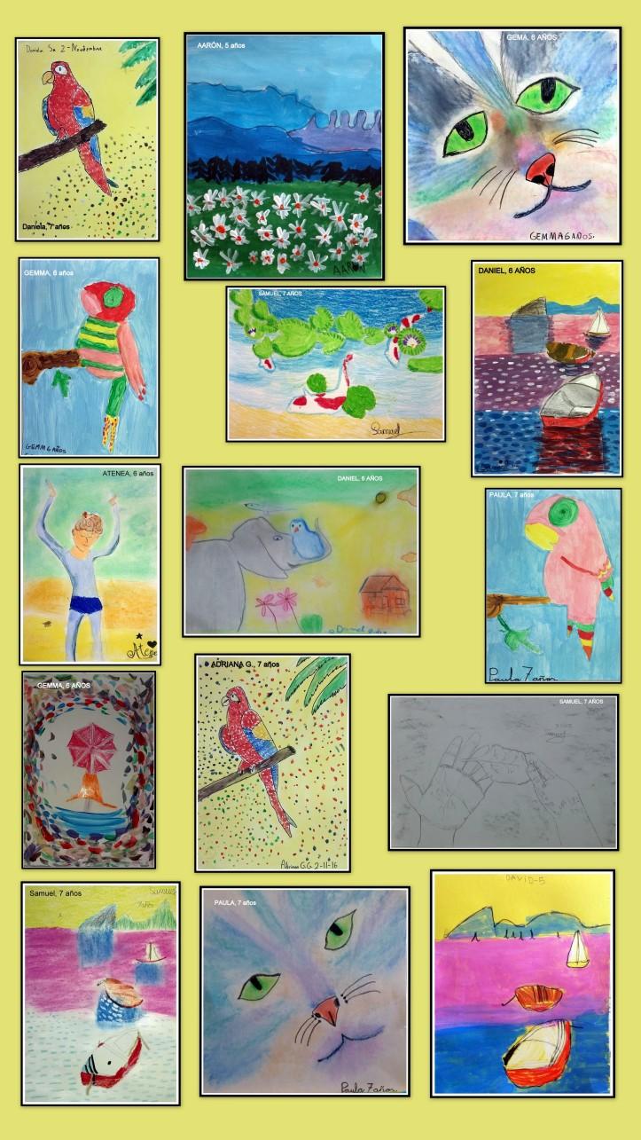 exposicion-obras-ninos-4-a-7-anos-arte-infantil-oleo-pastel-carboncillo-y-acuarela