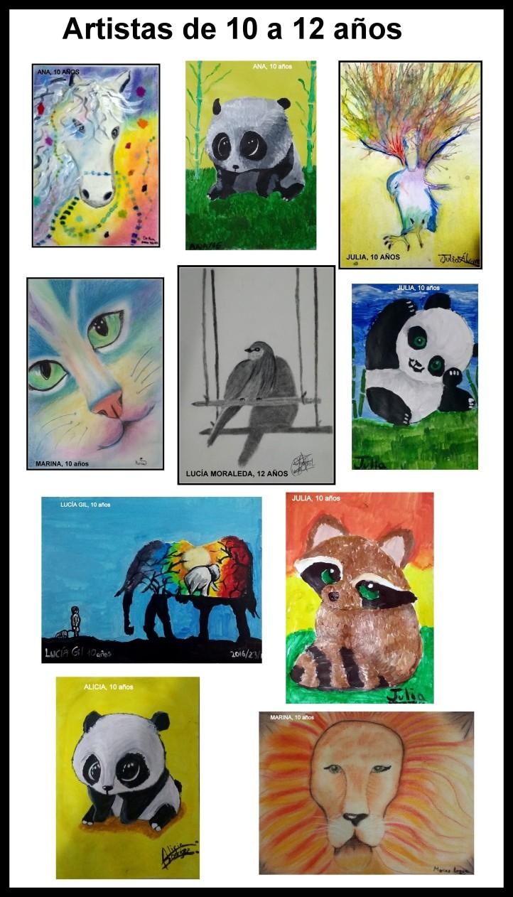 cuadros-de-animales-pintados-por-ninos-de-10-a-12-anos