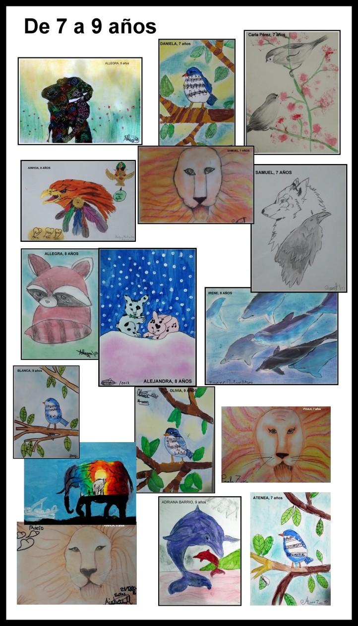 cuadros-de-animales-pintados-por-ninos-de-7-a-9-anos
