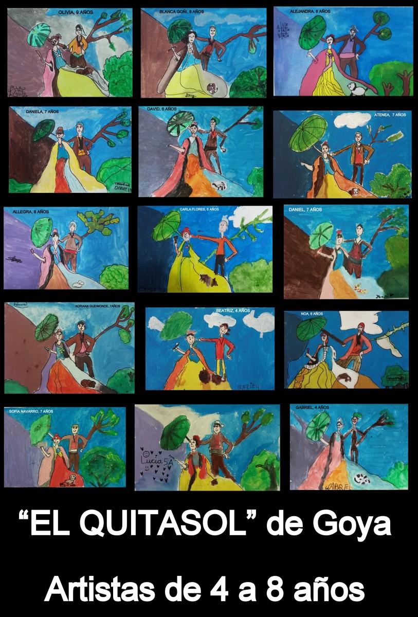 EL PINTOR Y SU OBRA - EL QUITASOL DE GOYA POR LOS ARTISTAS DE 4 A 9 AÑOS