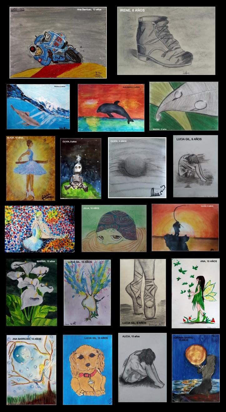 dibujos de moto gp alonso flores bailarinas y paisajes pintados por niños de 8 a 10 años