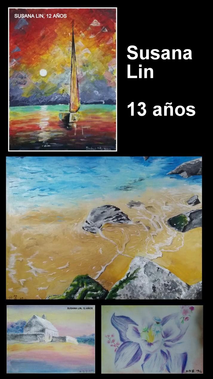 Impresionantes paisajes pintados en oleo por niña de 13 años