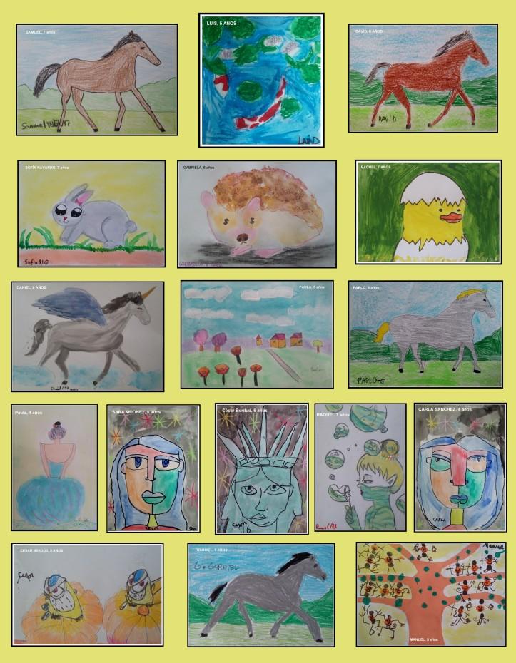 caballos y animales pintados por niños en torrejon de ardoz de 4 a 7 AÑOS
