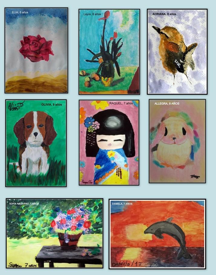 dibujos de los niños de 8 a 10 años de dali impresionistas y animales
