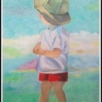 NIÑO EN LA PLAYA (OLEO) - SILVIA, 12 años