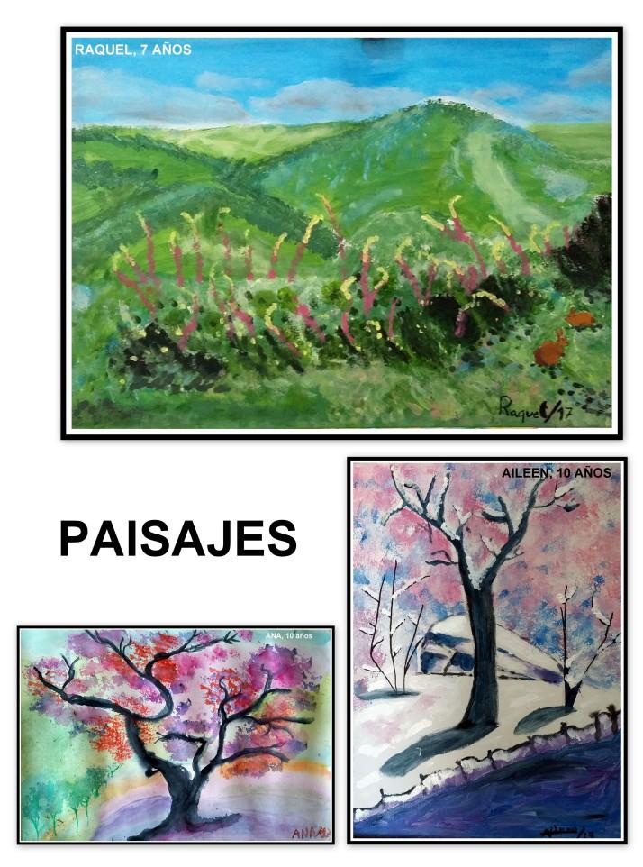 paisajes pintados por niños en torrejon de ardoz de 8-10 AÑOS