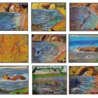 Pintar sobre PAPEL DE LIJA - Una técnica diferente y muy divertida