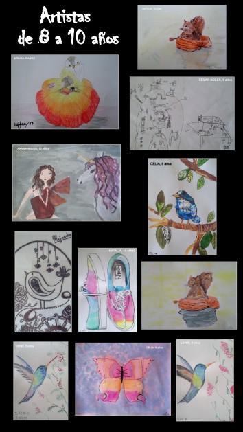 dibujos hechos por niños en acrilico tempera ceras y pastel en clases de pintura torrejon de ardoz 2