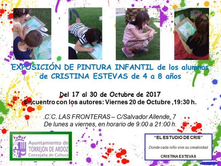 CARTEL EXPOSICION PINTURA INFANTIL C.C. LAS FRONTERAS 4-8 AÑOS