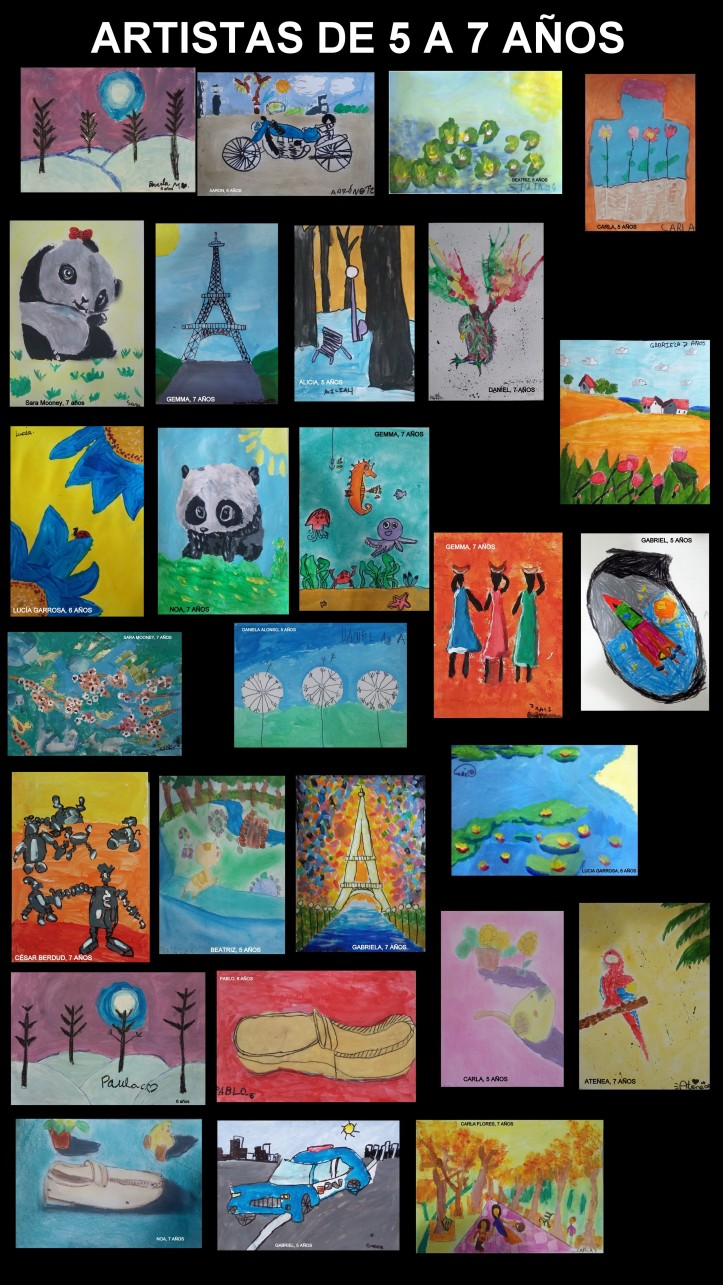 Cuadros pintados por niños de 5 a 7 años academia pintura torrejon de ardoz