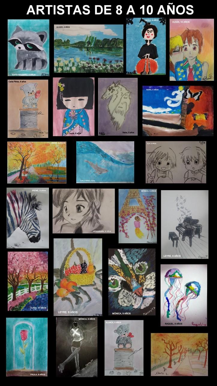 Cuadros pintados por niños de 8 a 10 años academia pintura torrejon de ardoz