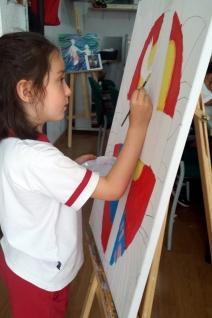Felicitacion religiosa navidad pintada por niños 2