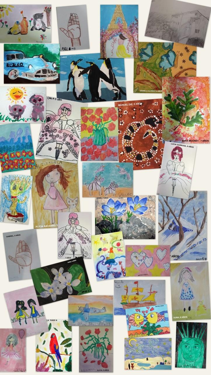 Cuadros pintados por niños de 5 a 7 años academia pintura y dibujo torrejon de ardoz