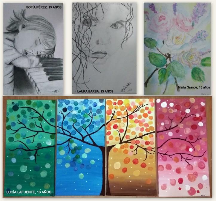 dibujos de animales flores y paisajes al oleo clase de dibujo y pintura para niños torrejon de ardoz
