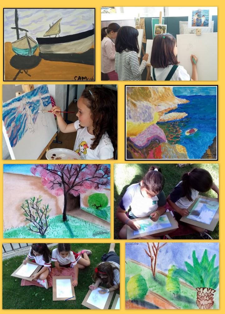 el impresionismo y sorolla para niños pintando al aire libre