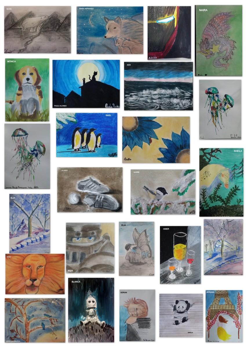 Preciosa muestra del arte de mis artistas medianos, de 8 a 10 años
