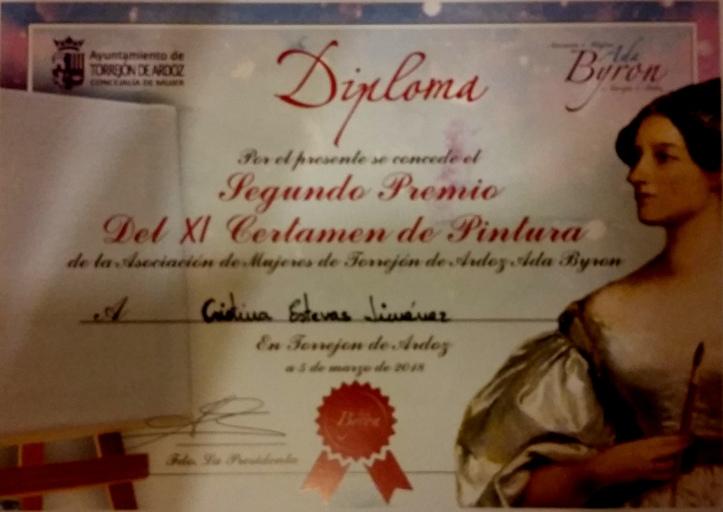 Cristina Estevas premio pintura igualdad dia de la mujer 2