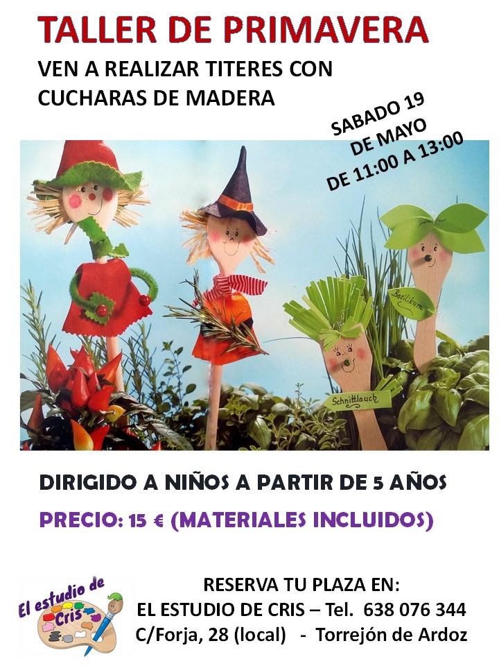TALLER para hacer TITERES CON CUCHARAS DE MADERA