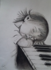NIÑO PIANO CARBONCILLO