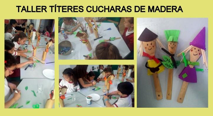 Taller MANUALIDADES TITERES CON FIELTRO Y CUCHARAS DE MADERA