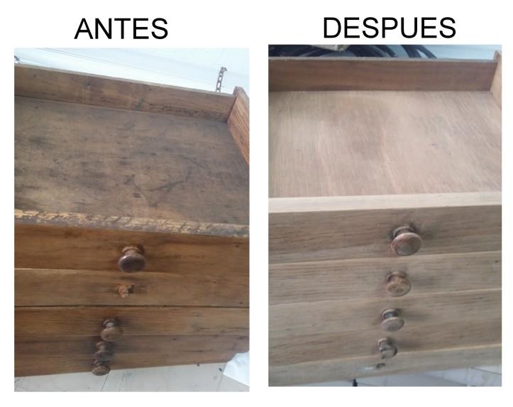 RESTAURACION MUEBLE ANTIGUO LINOTIPIA IMPRENTA PASO A PASO 1