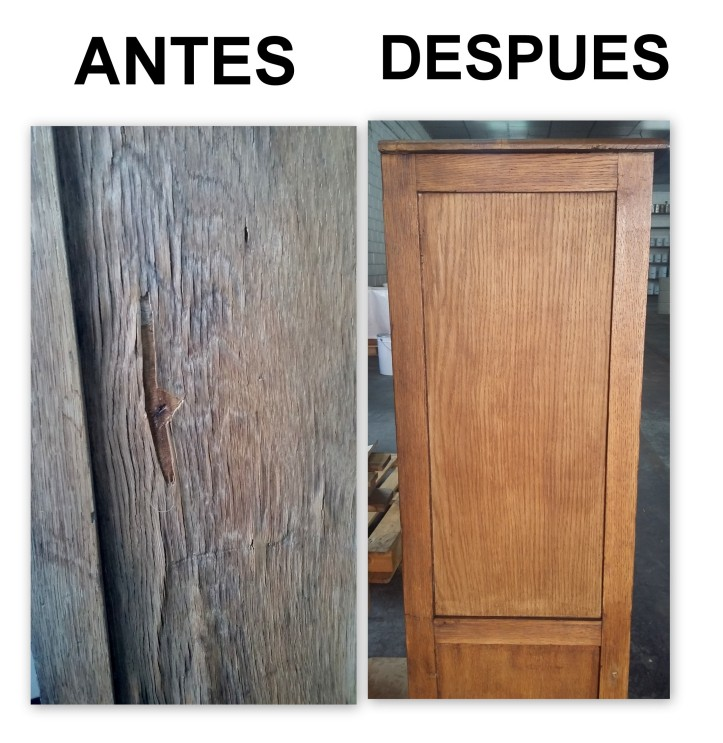 RESTAURACION MUEBLE ANTIGUO LINOTIPIA IMPRENTA PASO A PASO 4