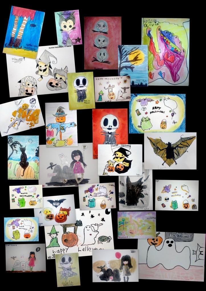 dibujos de halloween para niños academia torrejon de ardoz