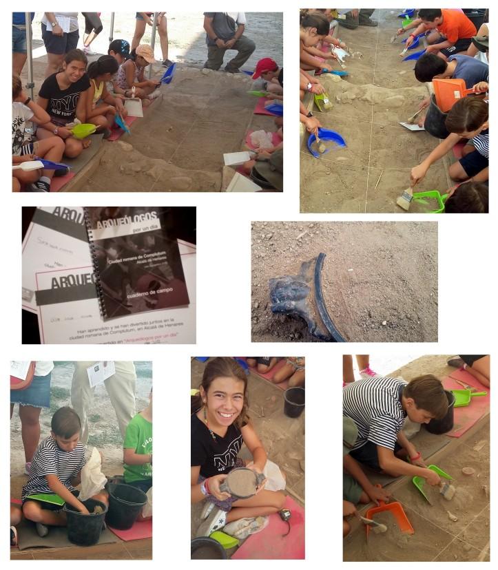 planes con niños arqueologia Complutum Alcala de Henares Madrid