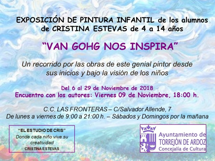 CARTEL EXPOSICION PINTURA INFANTIL C.C. LAS FRONTERAS VAN GOGH