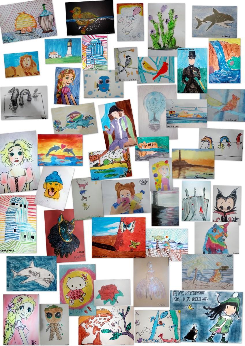 Artistas 4 a 8 años - Trabajos primer trimestre