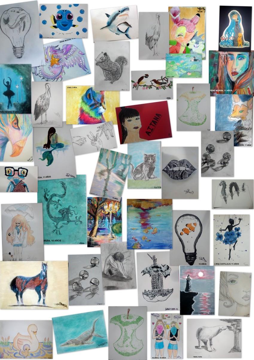 Artistas 9 a 11 años - Trabajos primer trimestre