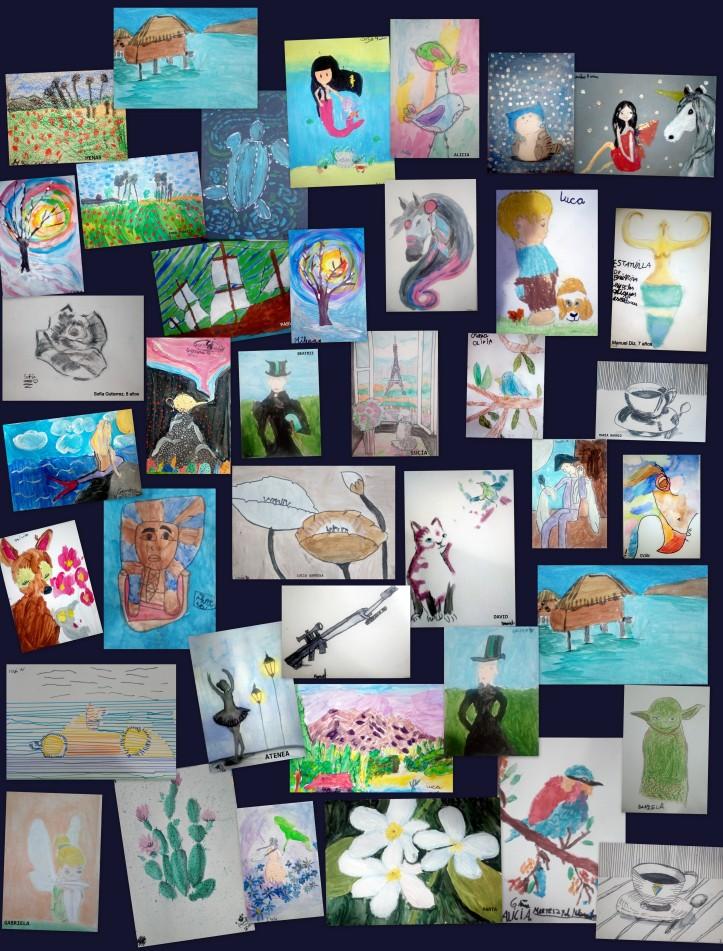 cuadros de niÑos de 4 a 8 aÑos academia pintura torrejon de ardoz