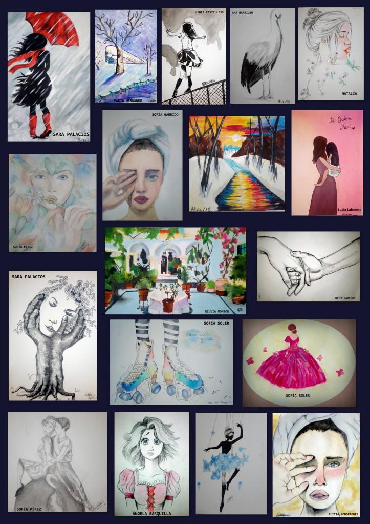 cuadros pintados por niños de 12 a 14 años