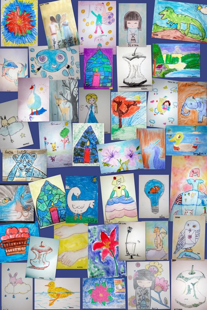 dibujos academia niños estudio de cris 5 a 8 años