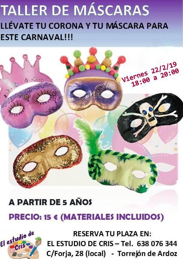 taller manualidades carnaval niños torrejon ardoz