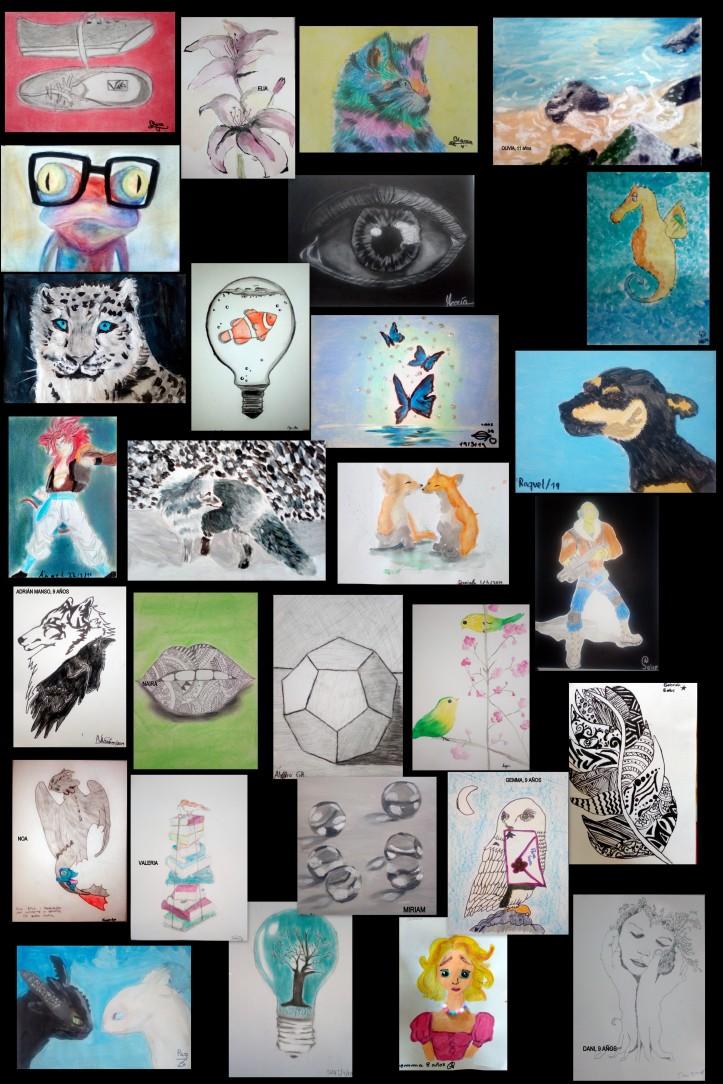 dibujos niños 9 a 12 años en el estudio de cris