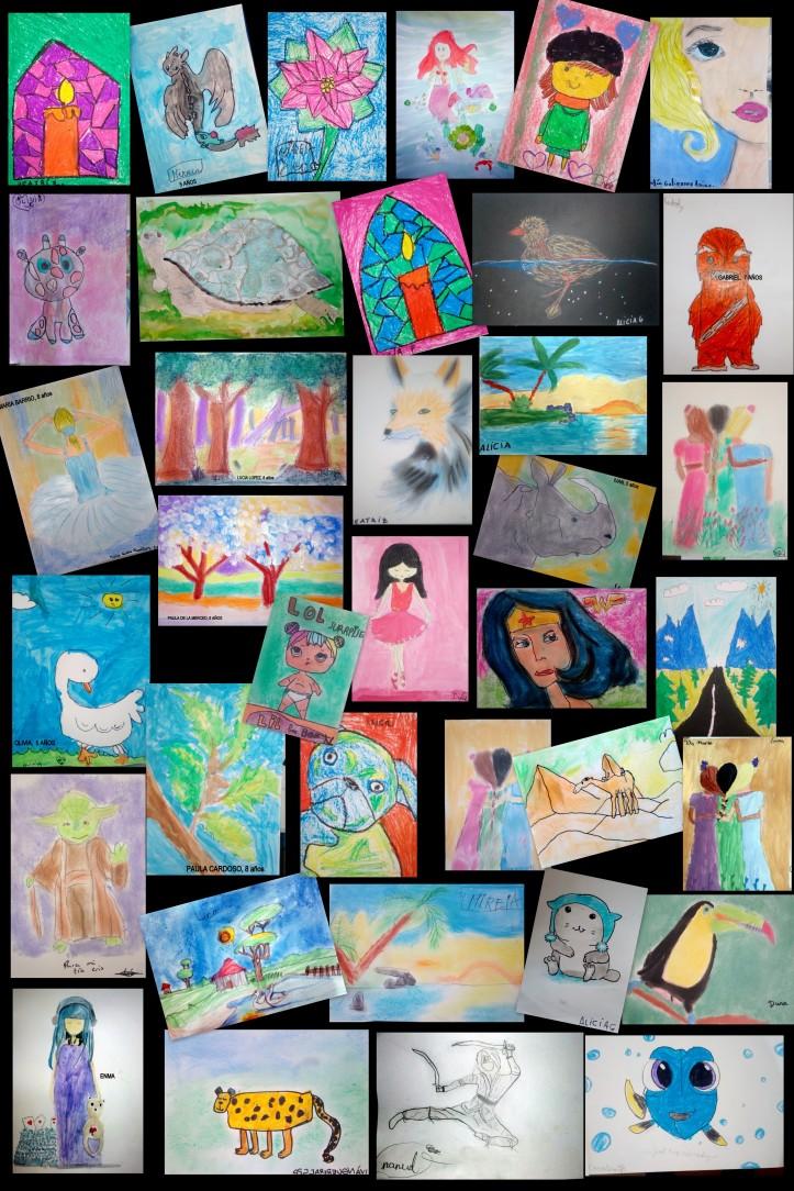 dibujos pintados niños 4 a 8 años academia torrejon de ardoz
