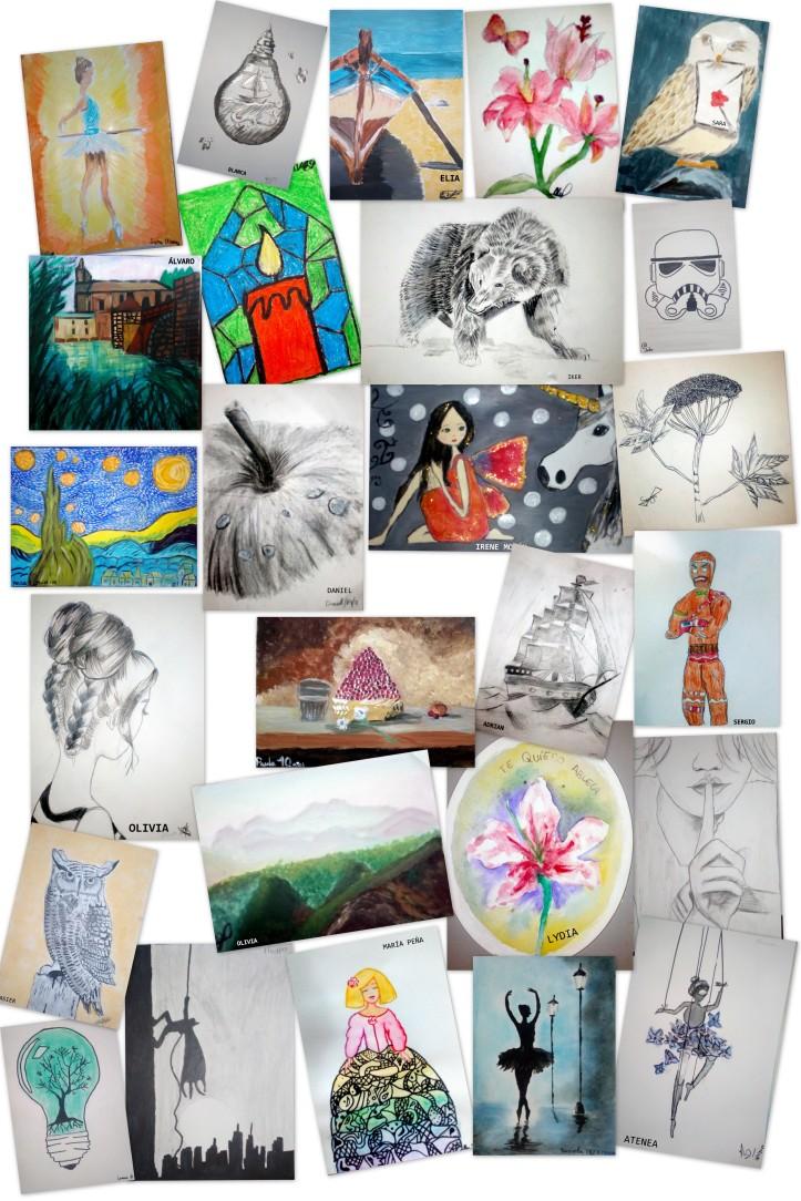 Obras de arte de niños de nueve a 12 años