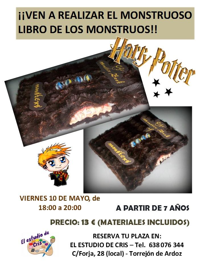 TALLER LIBRO DE LOS MONSTRUOS HARRY POTTER