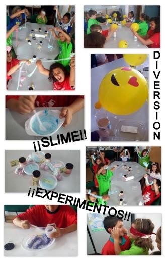 Cumpleaños experimentos y slime