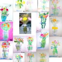 Los pequeños artistas pintan un bodegón natural de flores - De 4 a 9 años