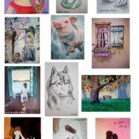 Obras de mis alumnas de 12-13 años y  14-15 años