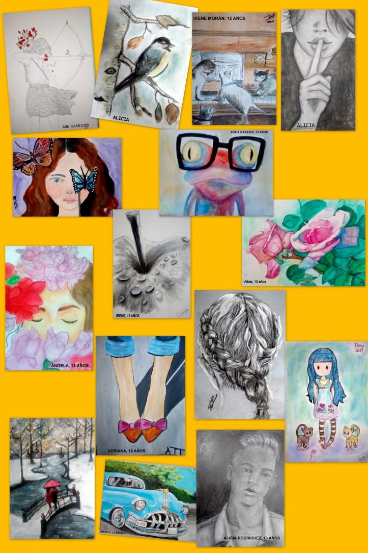 obras de arte de niños de 12 y 13 AÑOS